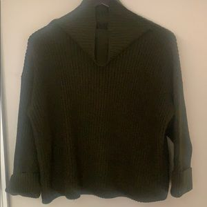 Crop Funnelneck Sweater